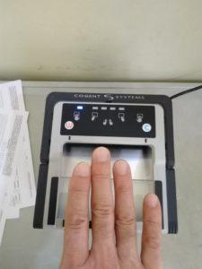 指紋の機械