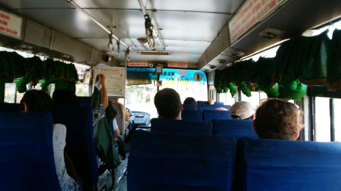 ダナン行きバス車内
