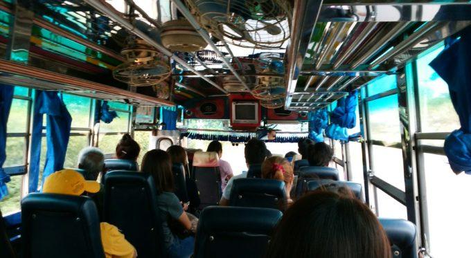 バス車内帰り
