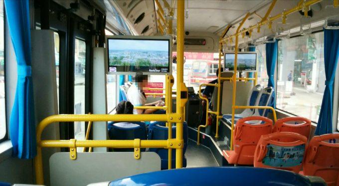 空港バス車内
