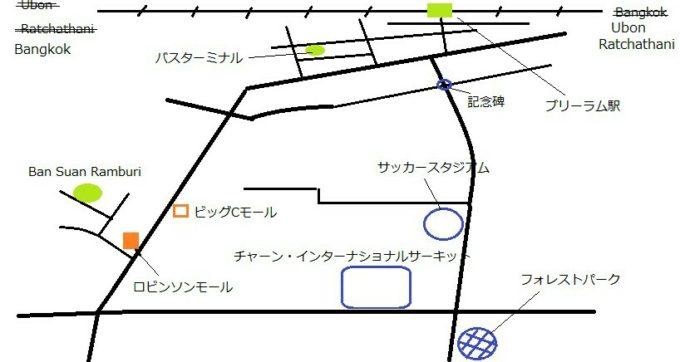 ブリーラム地図
