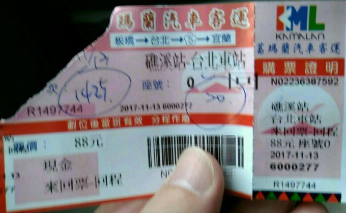 帰りのチケット