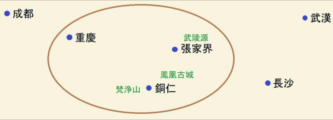 中国都市の位置