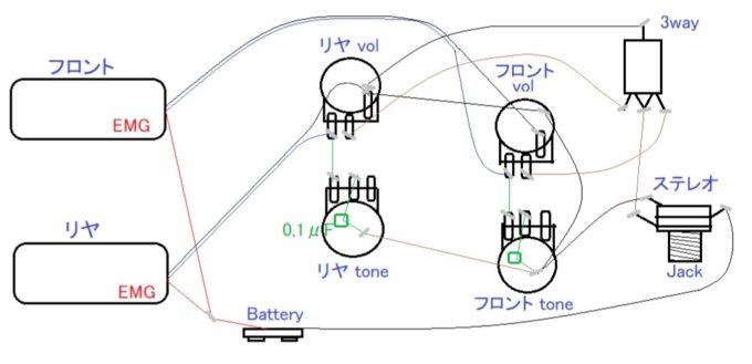 EMG2ハム配線図